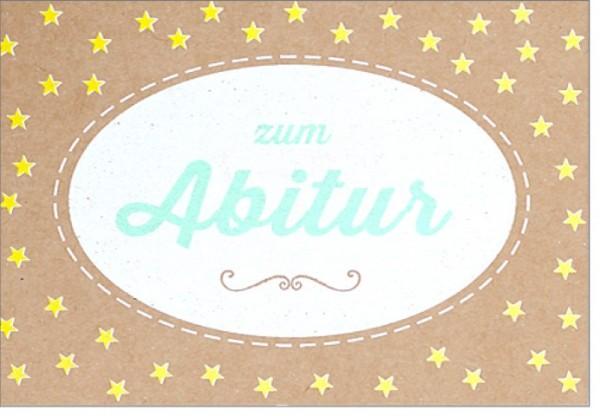 Umschlagk. pp Abitur Sterne gelb