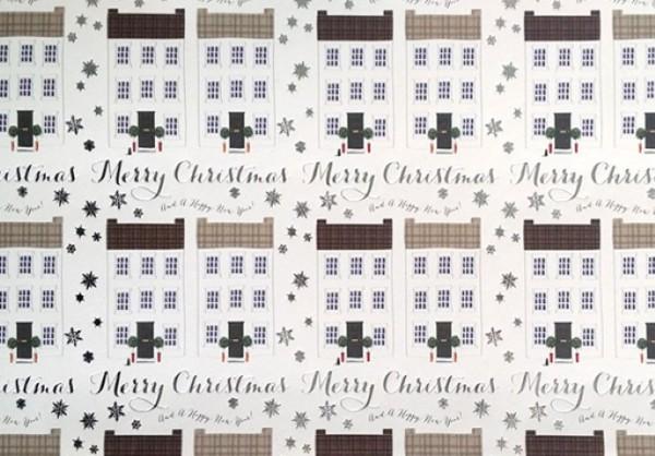 Häuserreihe Weihnachten