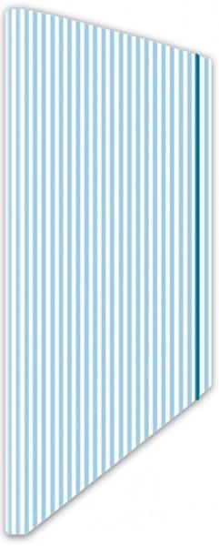 Eckspannmappe Streifen blau