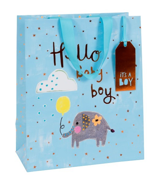 Hello Baby Boy Bag large