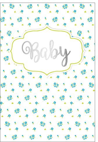 Umschlagk. NP Baby blaue Blümchen