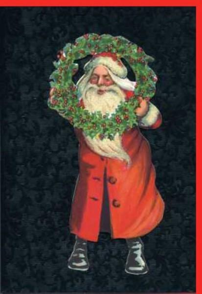 Umschlagk. Santa & Kranz