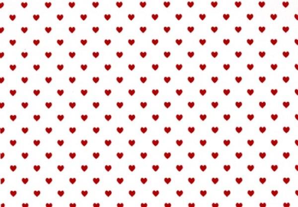 Herzchen rot/weiß