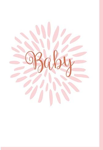 Umschlagk. Baby Feuerwerk rosa