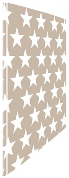 Schnellhefter Sterne weiß-beige