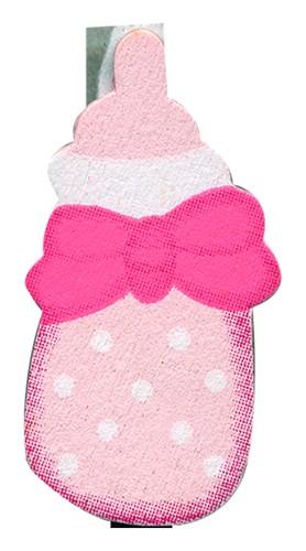 Klammer Baby rosa 4,5 cm 8x6 Stück