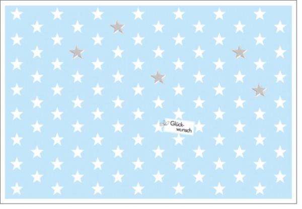 Umschlagk. Lightblue Stars